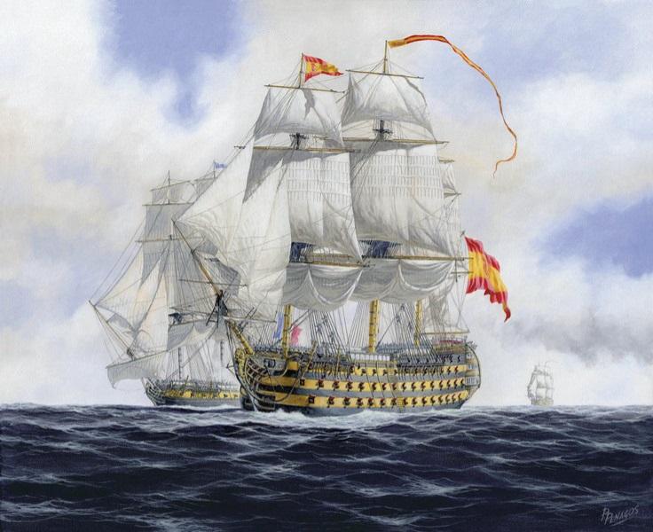 Испанские корабли в Южных морях