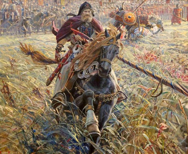 Конный воин с рогатиной