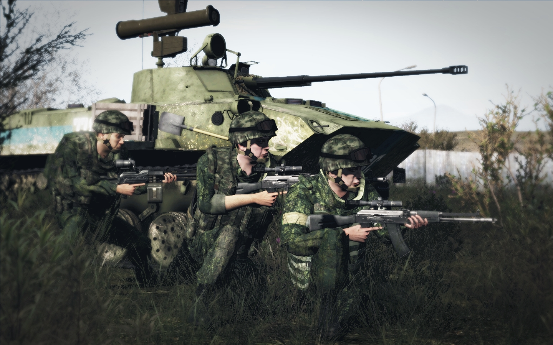 Мотострелки в бою