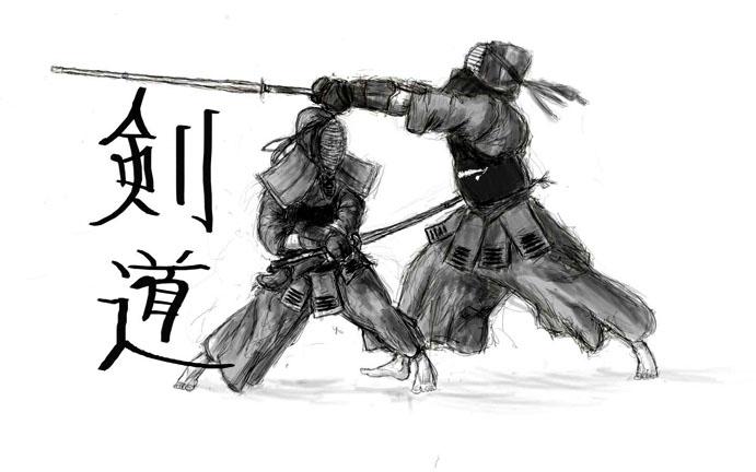 Страница из японского учебника по фехтованию