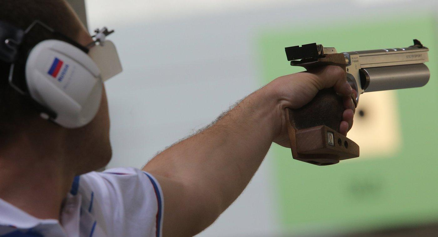 Стрельба из пневматического пистолета
