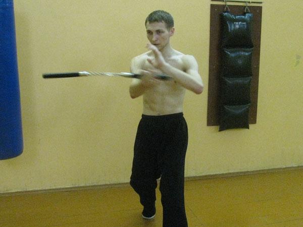 Тренировка с нунчаками