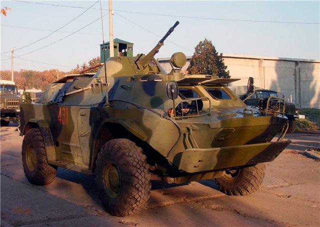 БРДМ-2 с пулеметом, готовым вести огонь