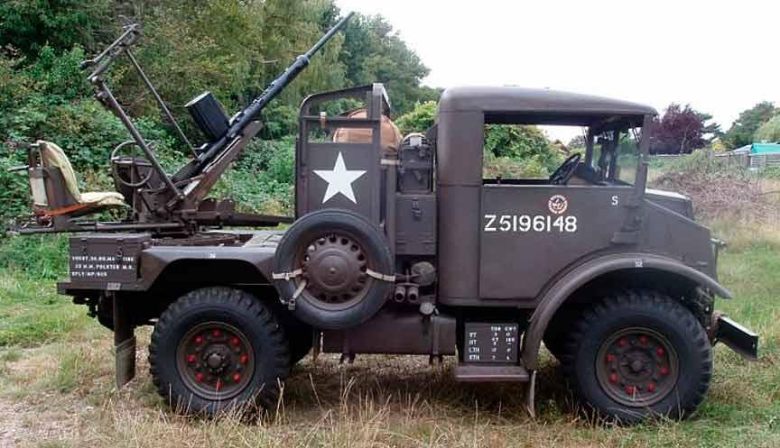 Эрликон на военном автомобиле