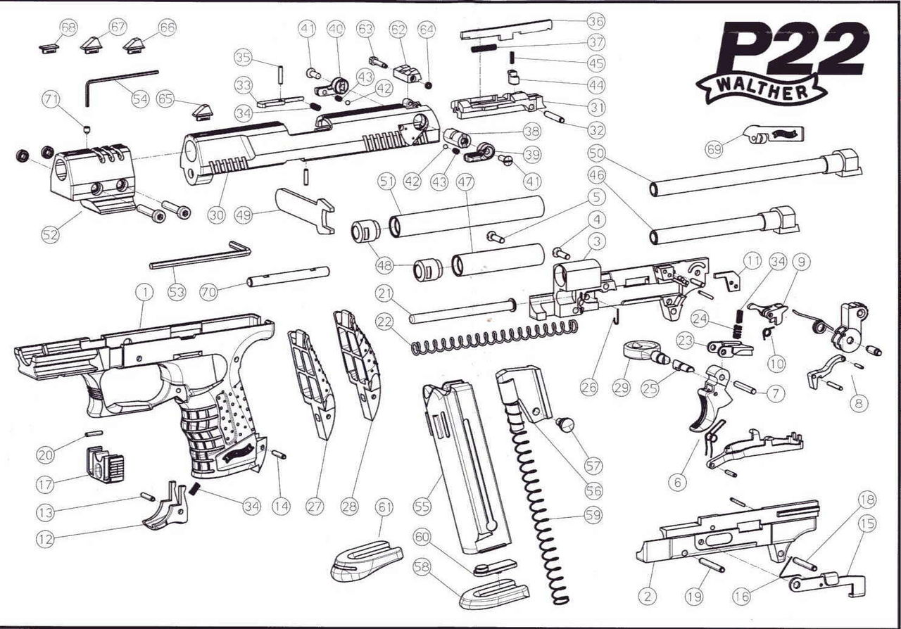 Конструкция Вальтера П22