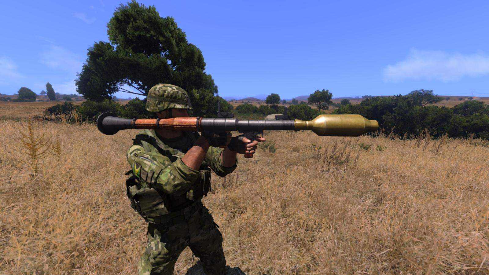 Солдат с РПГ-7