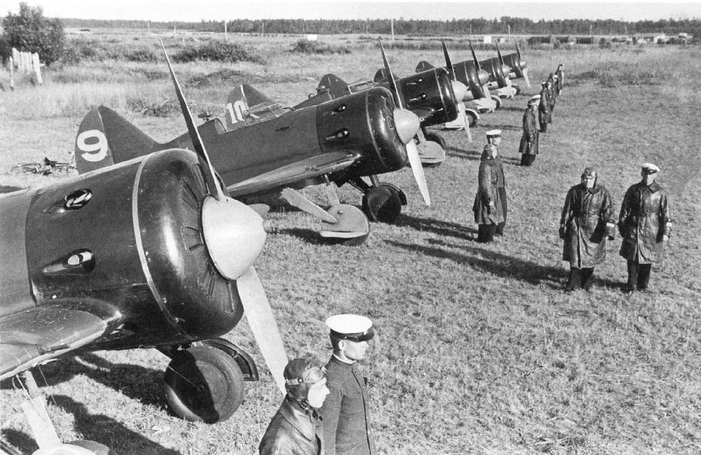 Советские истребители на Халкин-Голе
