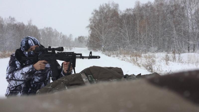 """Стрельба из """"Сайги-223"""" с оптикой"""