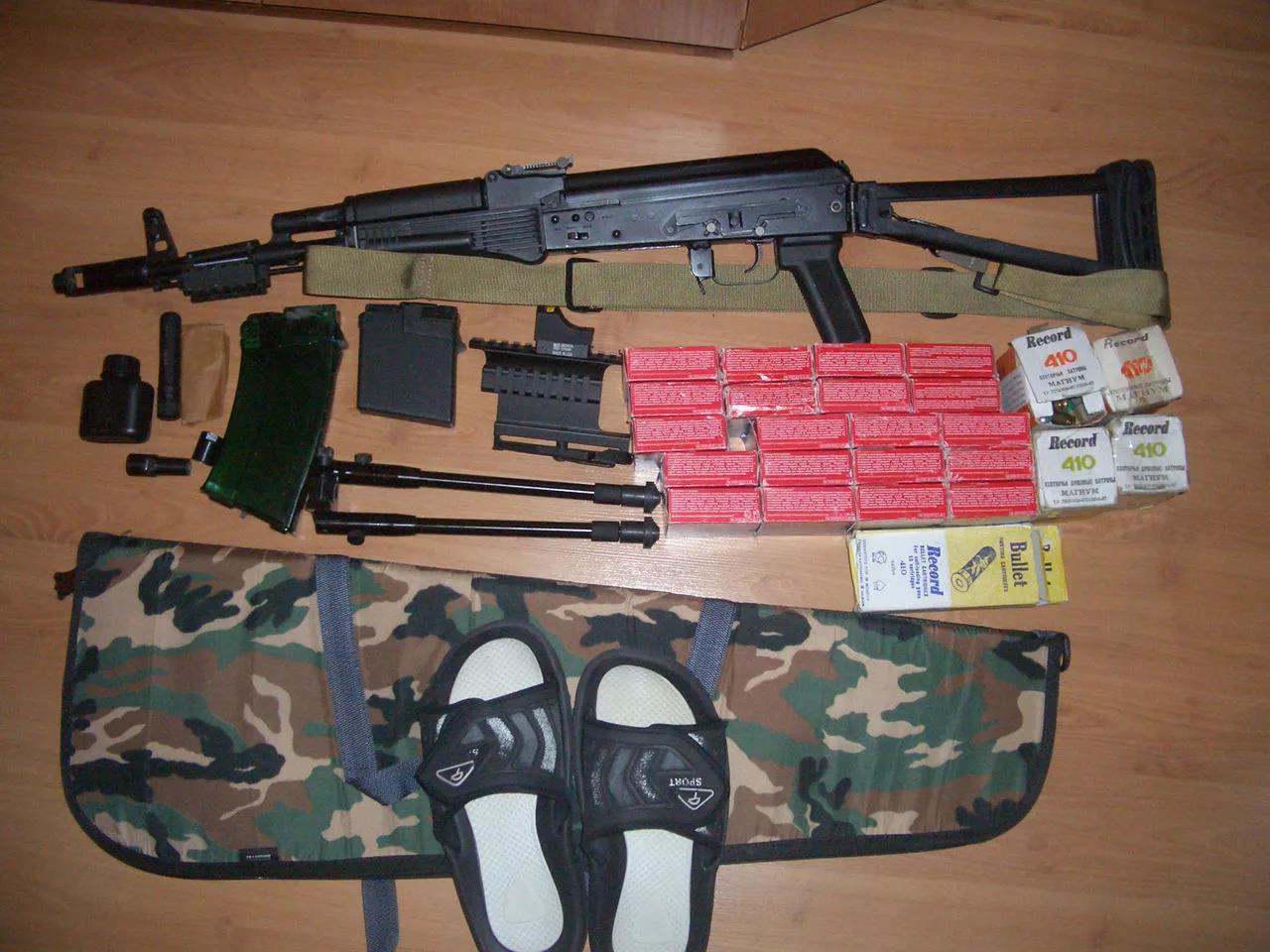 """""""Сайга-410"""" с разными типами патронов"""
