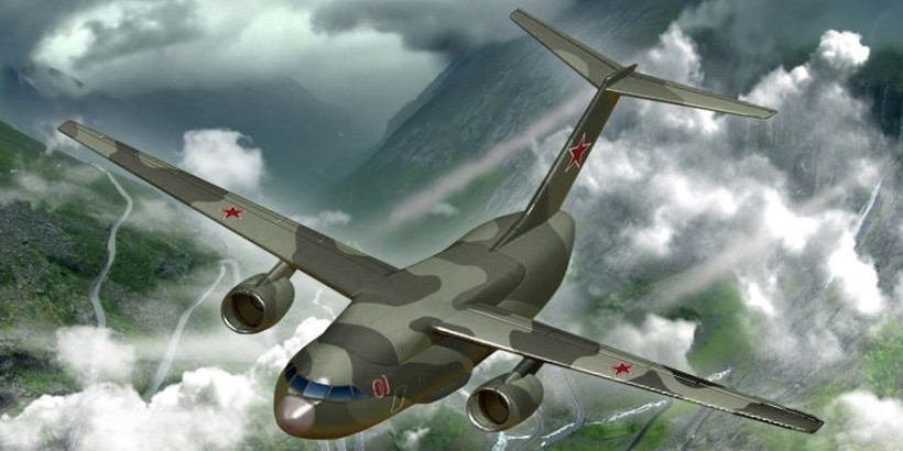 ИЛ-214 в воздухе