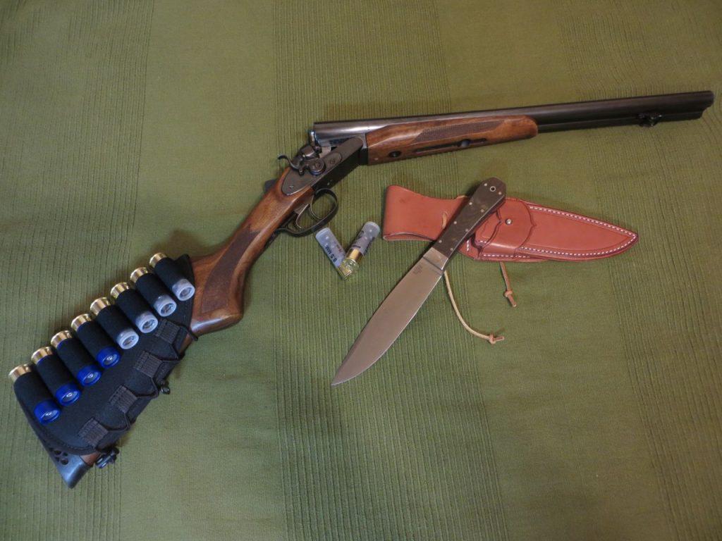 ИЖ-43К с патронами и ножом