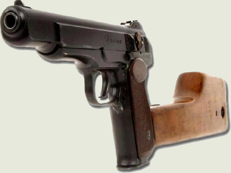 МР-355 с присоединенной кобурой-прикладом