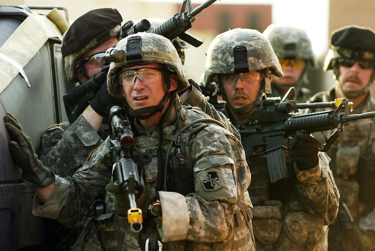 Отряд солдат США