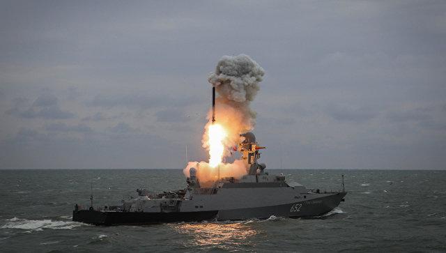 "Пуски ракет ""Калибр"""