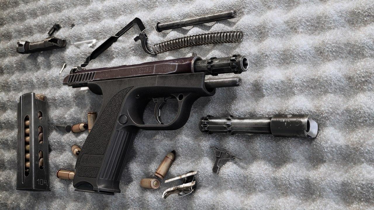 Разобранный ГШ-18