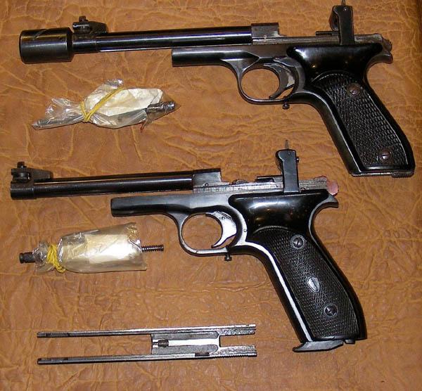 Разобранный пистолет Марголина