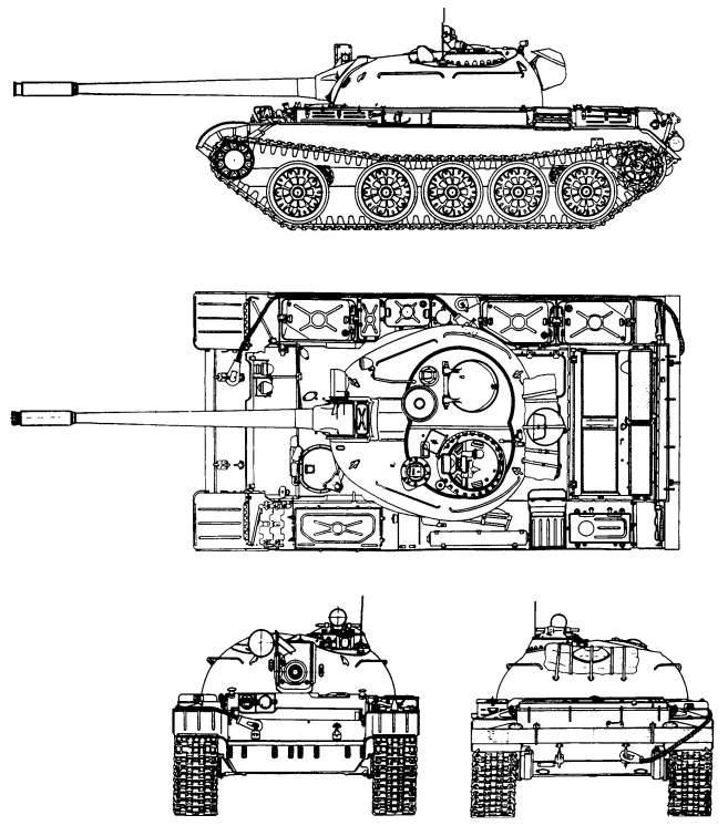 Схема Т-55