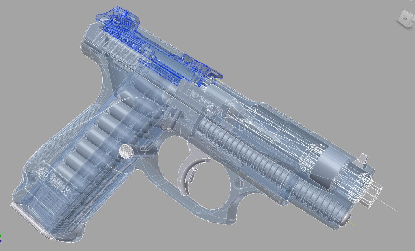 Схема внутреннего устройства ГШ-18