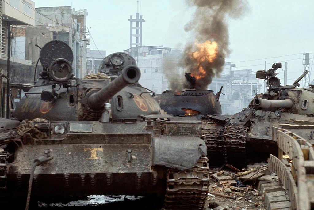 Т-55 в Сайгоне
