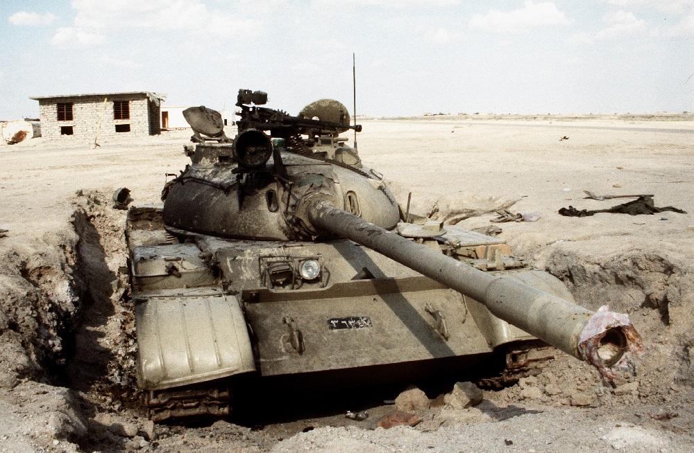 Танк Т-55 на ядерном полигоне