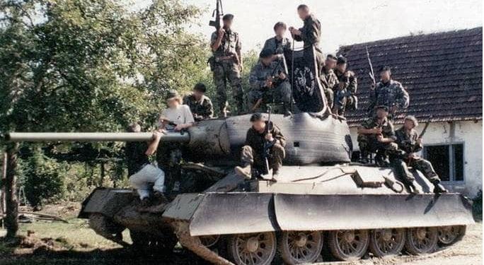 Танки Т-34 в Югославии