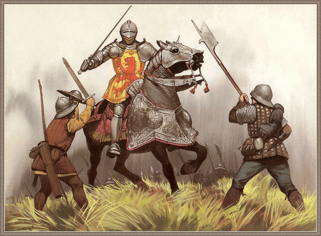 Алебарда в бою