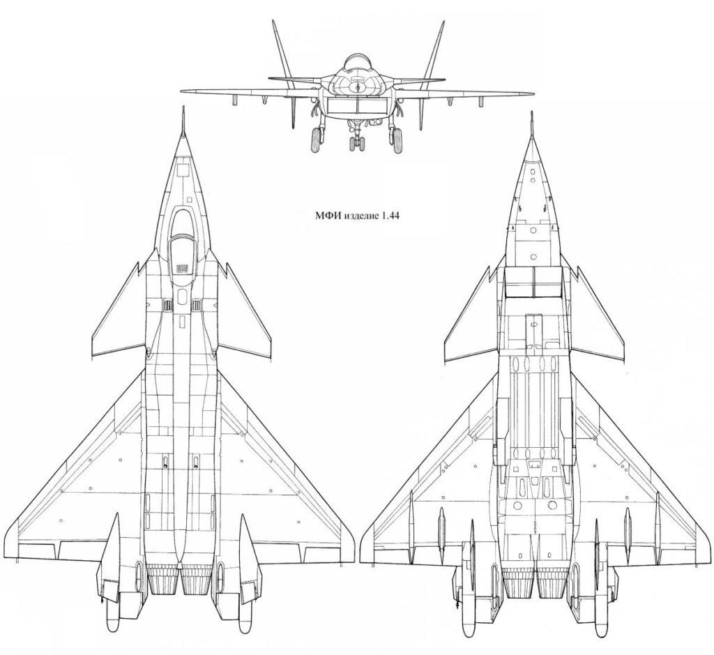 Чертеж МиГ 1.44