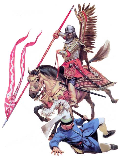 Гусар и упавший противник