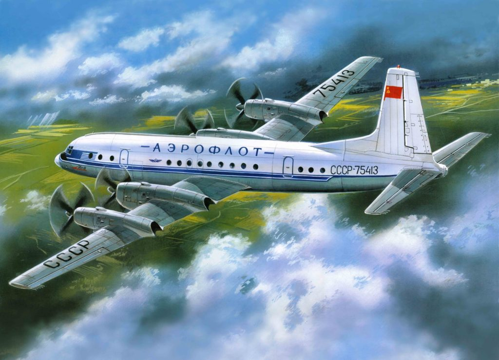 Ил-18 в воздухе