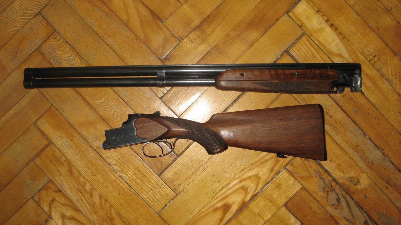 ИЖ-12 со снятыми стволами
