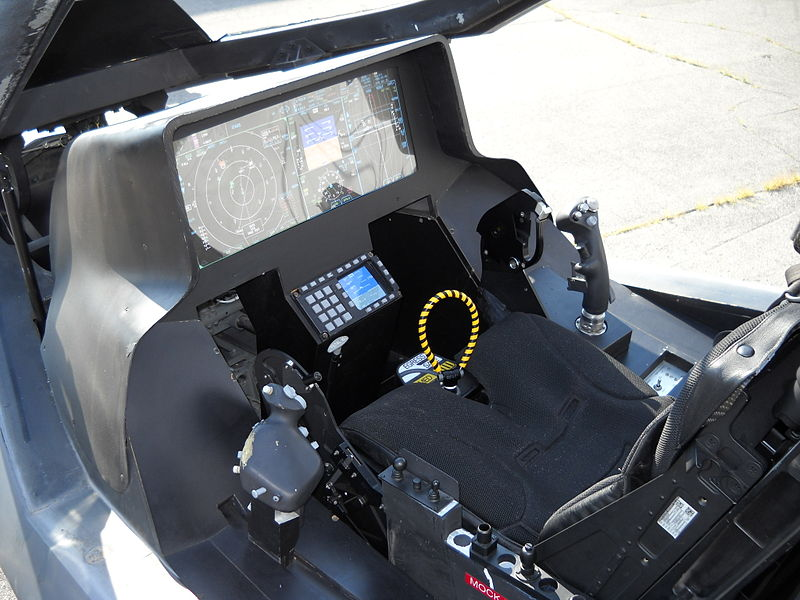 Кабина пилота F-35