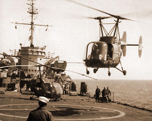 Первая посадка вертолета на борт
