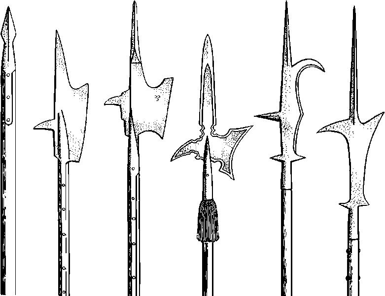 Рисунок алебард
