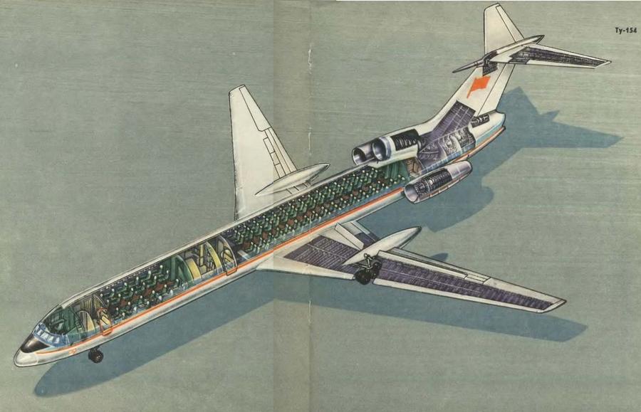 Рисунок Ту-154