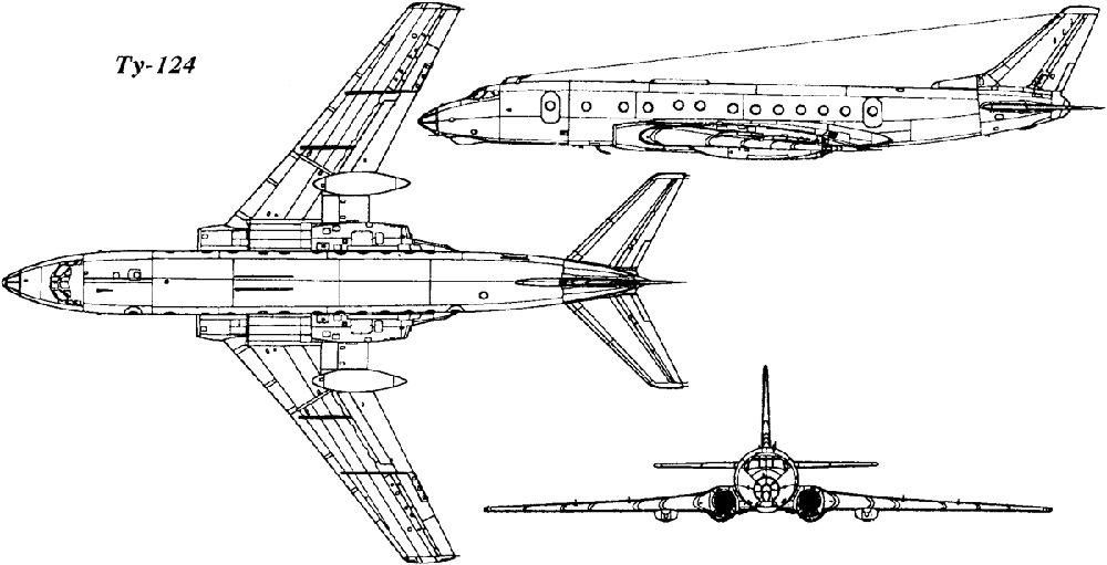 Самолет Ту-124