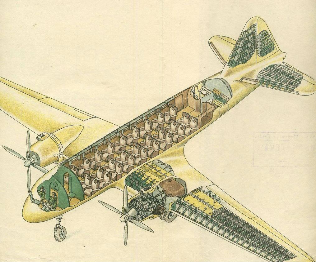 Схема Ил-12
