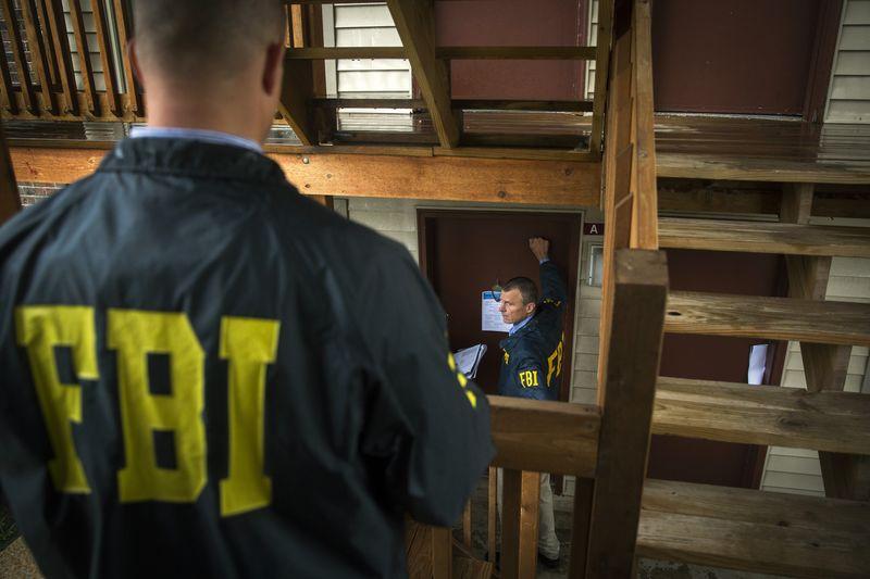 Сотрудники ФБР на службе