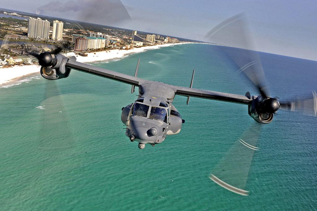 V-22 Osprey над морем