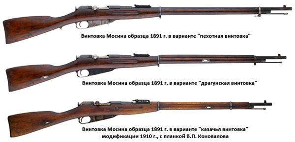Винтовка Мосина и ее модификации