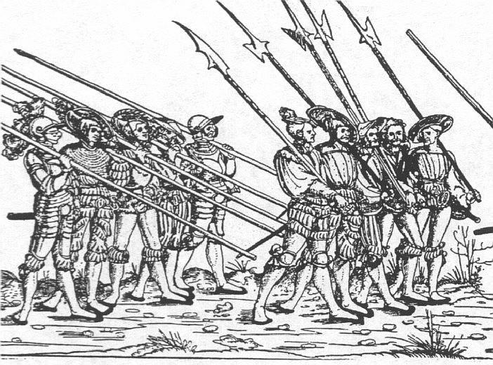Воины с алебардами