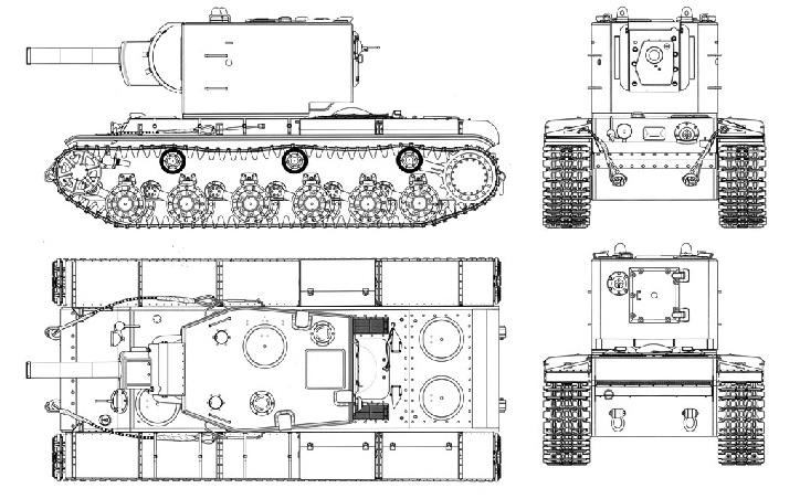 Чертеж КВ-2