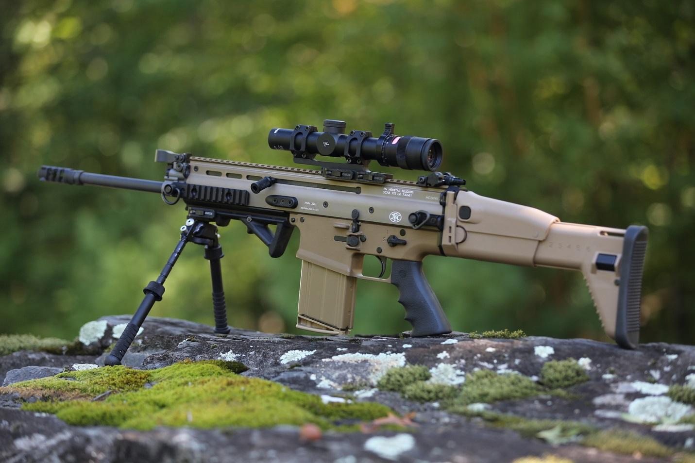 FN SCAR на сошках