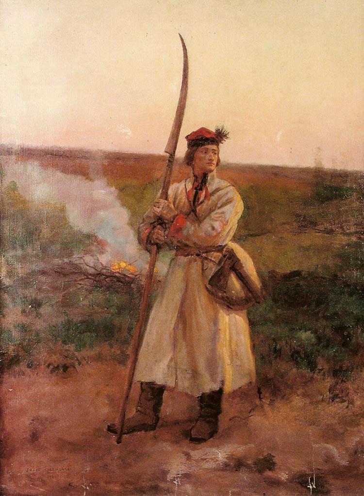 Крестьянин с косой