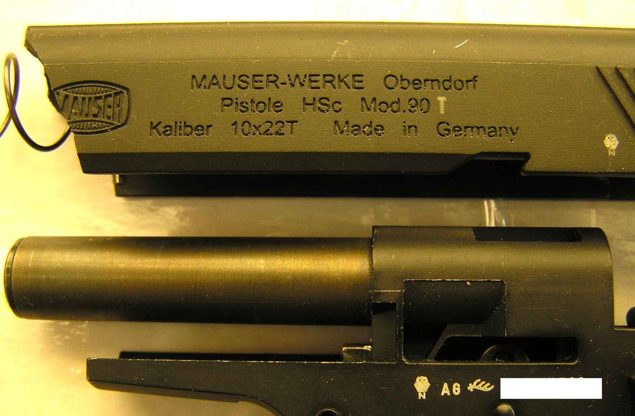 """""""Mauser HSc 90t"""" со снятым затвором"""