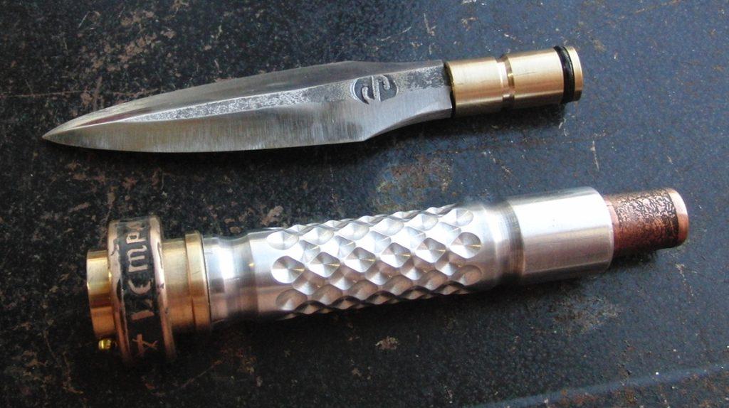 Нож со снятым лезвием