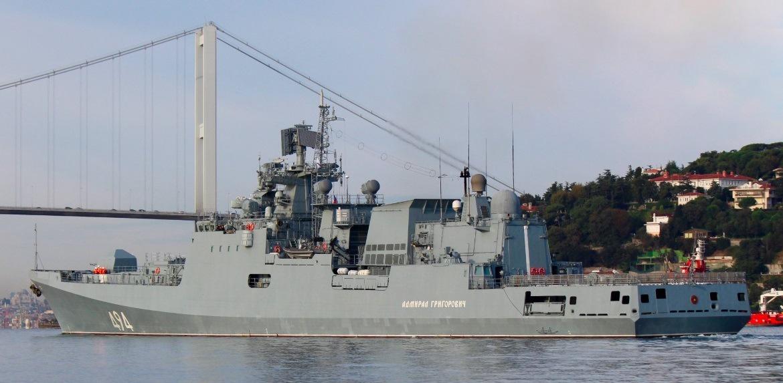 Переход фрегата через Босфор