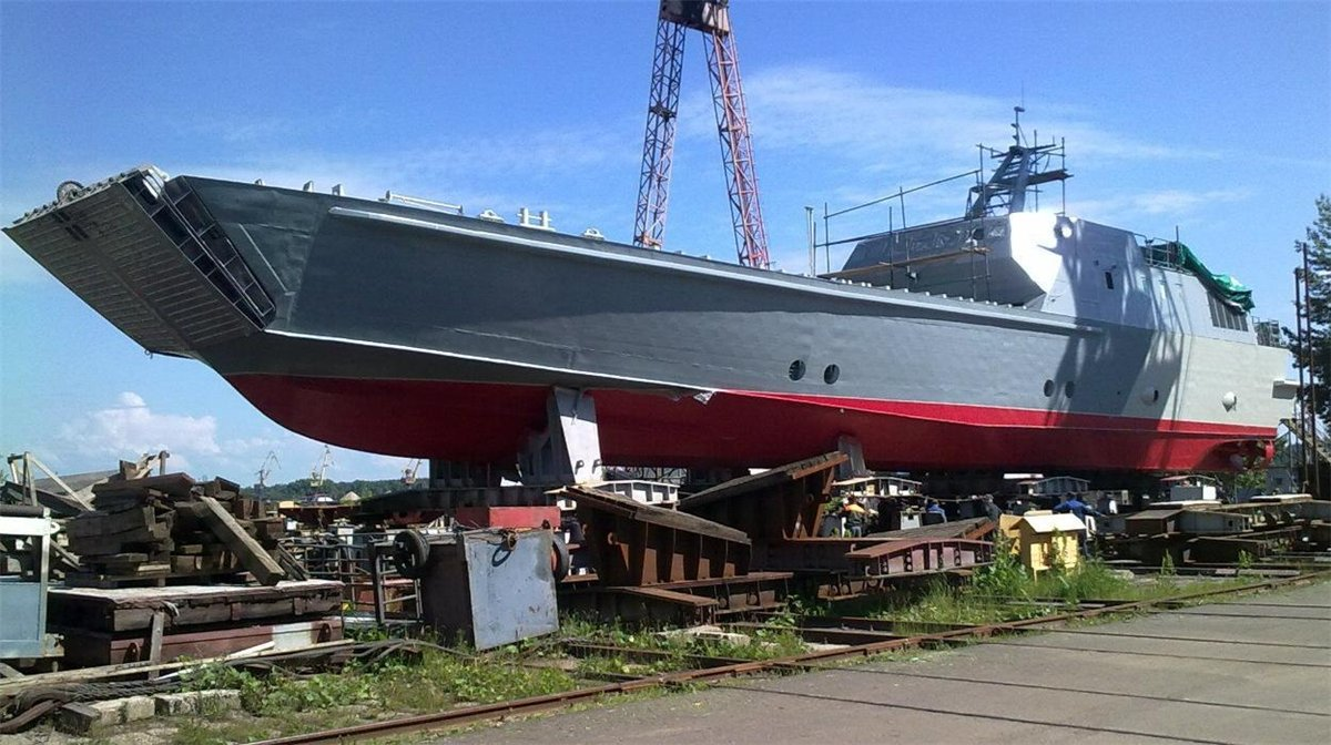 Постройка катера проекта 21820