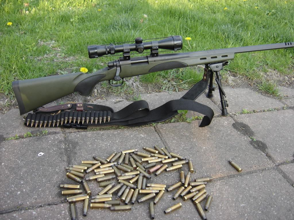 Remington-700 с патронами