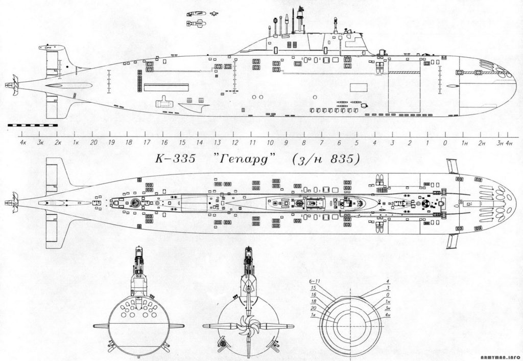 """Схема К-335 """"Гепард"""""""