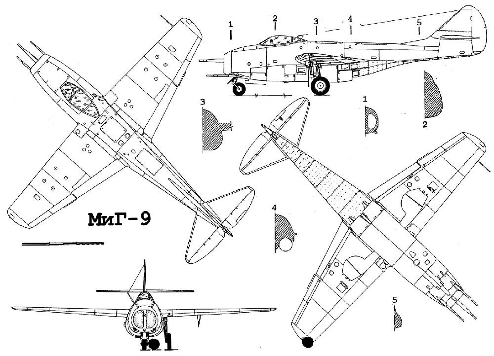 Схема МиГ-9